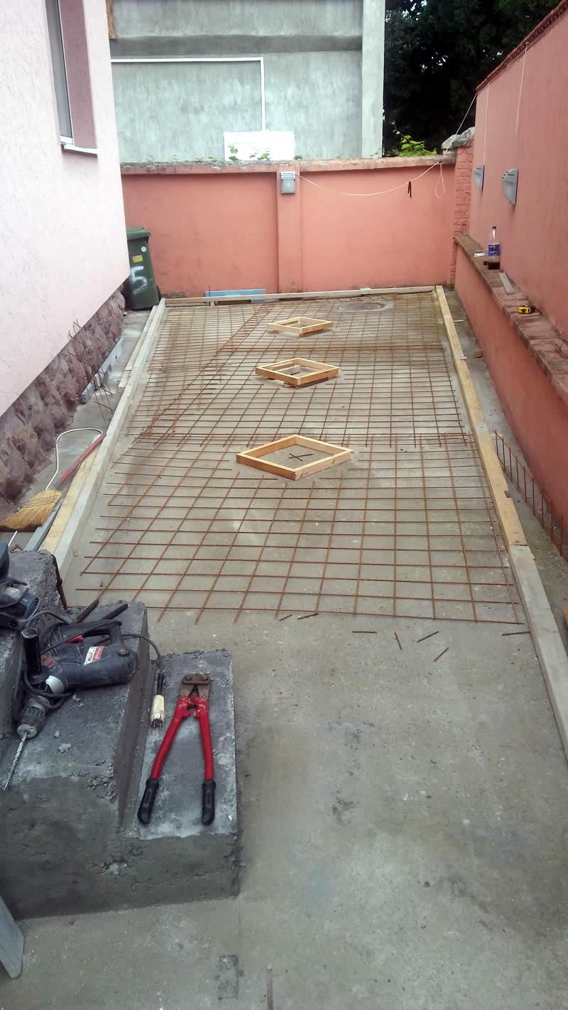 MV štamoani beton 2018, armiranje štampanog betona