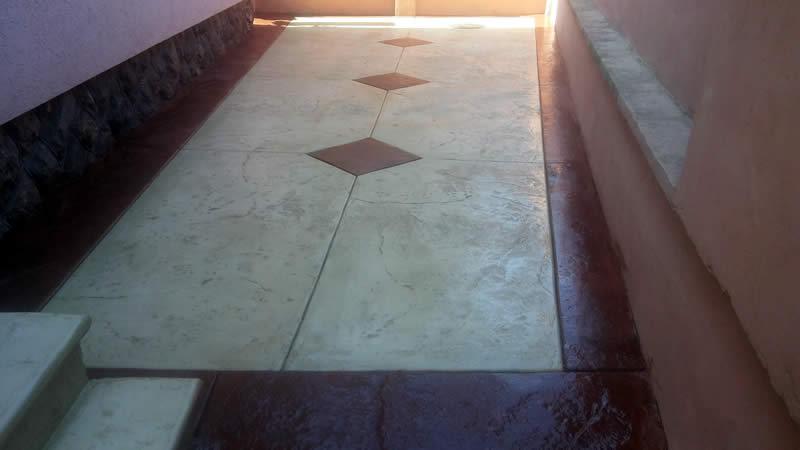 MV štampani beton 2018, štampani beton u dvorištu
