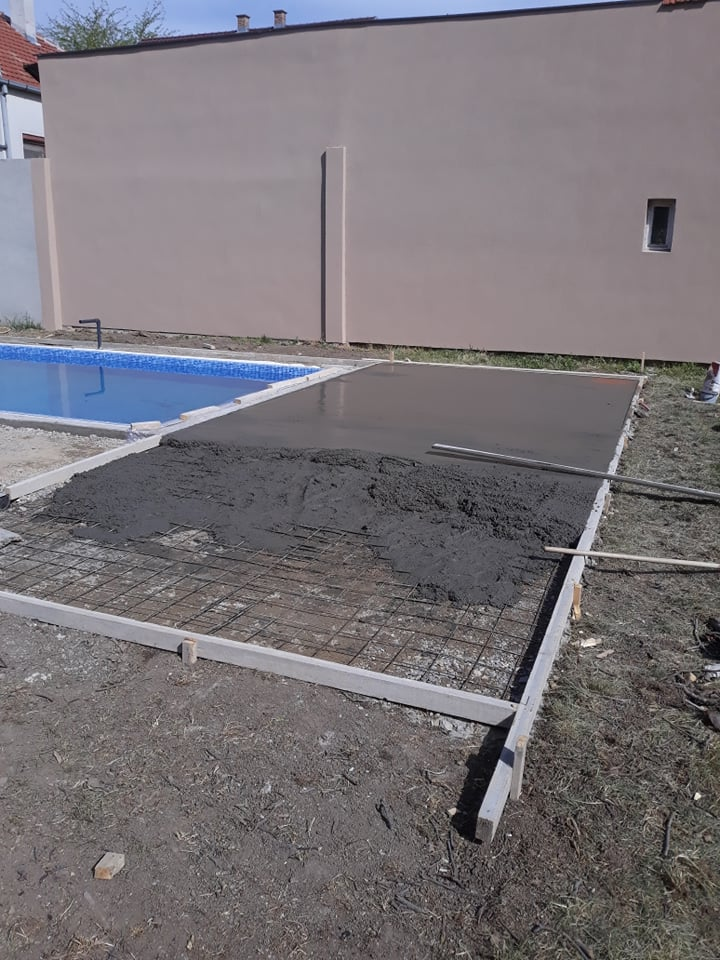 MV štampani beton - izlivanje betona - Novi Sad 2019.
