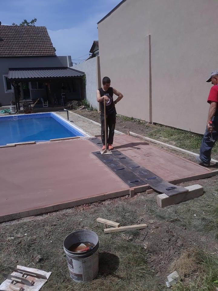 MV štampani beton - štampanje betona - Novi Sad 2019.