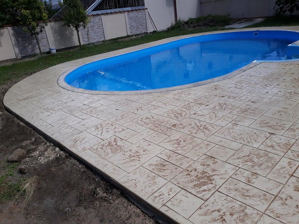 MV štampani beton - konačan izgled štampanog betona oko bazena